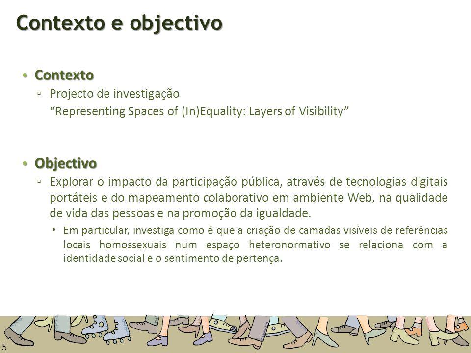 Contexto e objectivo Contexto Objectivo Projecto de investigação