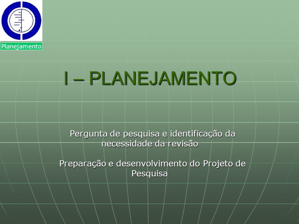 Planejamento I – PLANEJAMENTO.