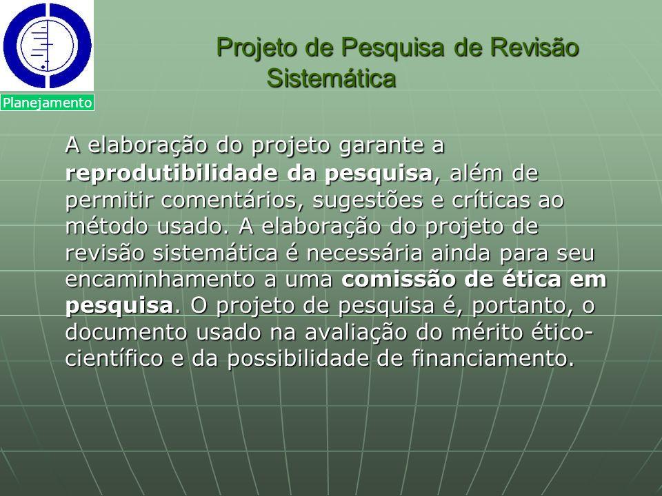 Projeto de Pesquisa de Revisão Sistemática