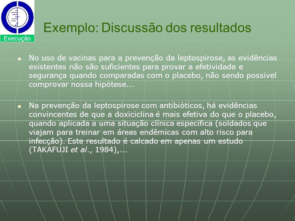 Exemplo: Discussão dos resultados