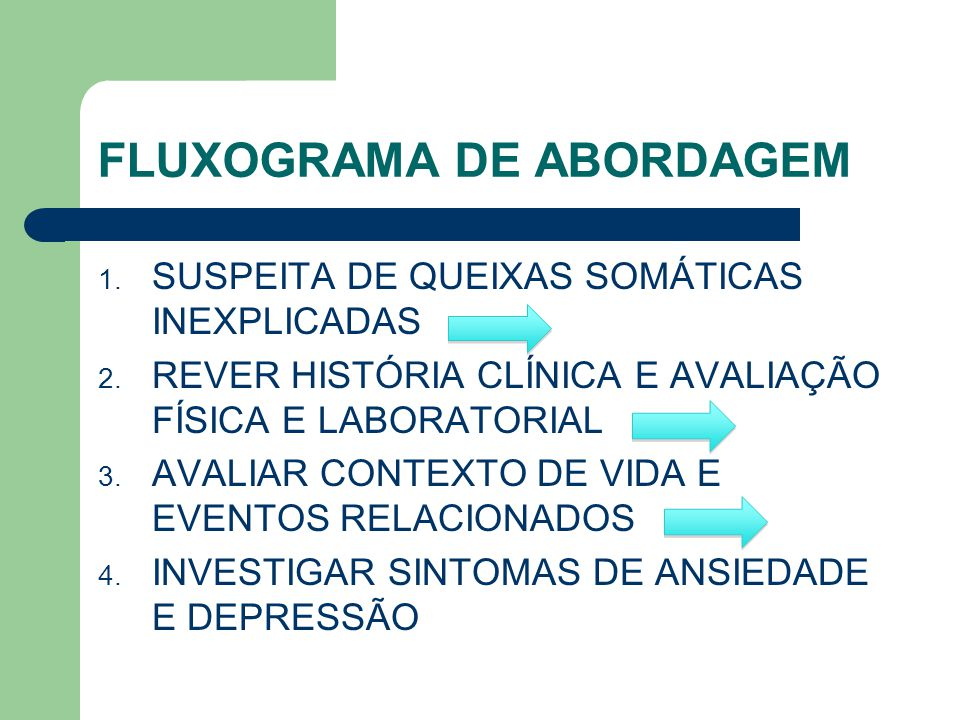 FLUXOGRAMA DE ABORDAGEM