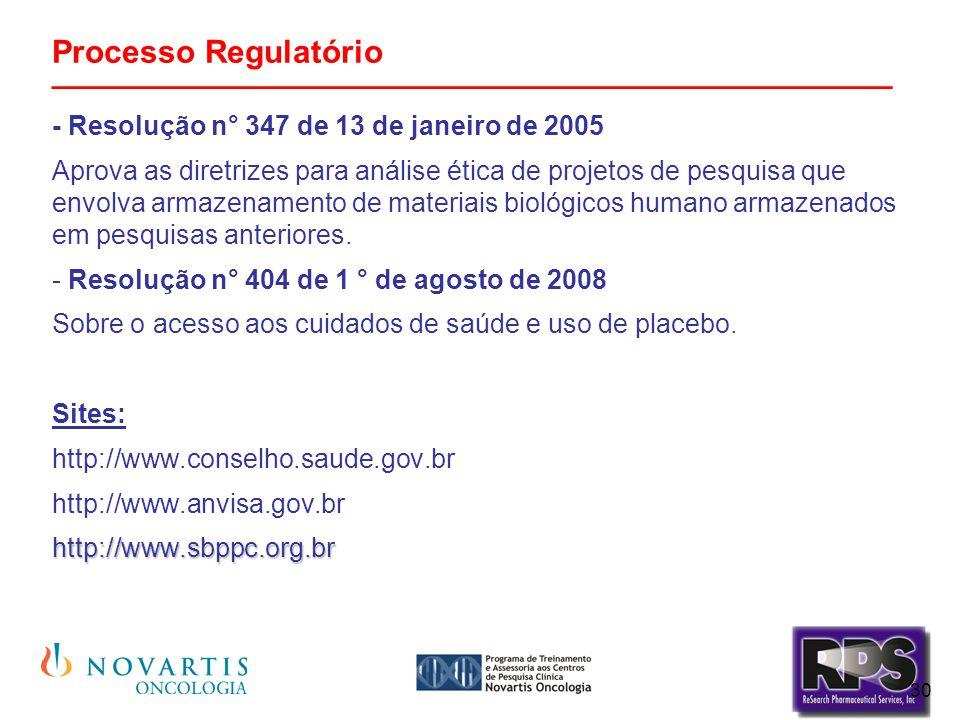 Processo Regulatório _______________________________________________