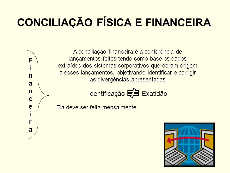 CONCILIAÇÃO FÍSICA E FINANCEIRA