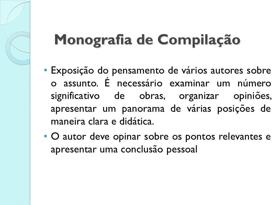 Monografia de Compilação