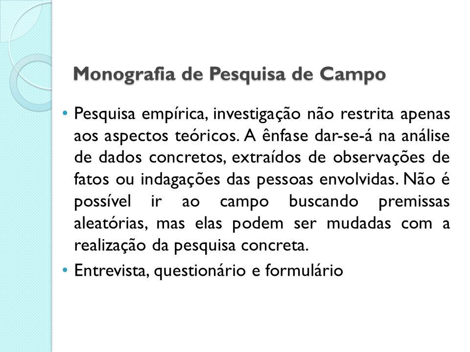 Monografia de Pesquisa de Campo