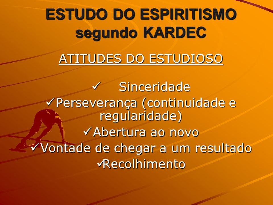 ESTUDO DO ESPIRITISMO segundo KARDEC