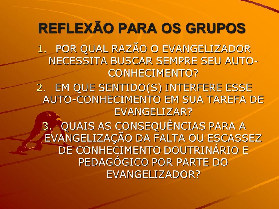 REFLEXÃO PARA OS GRUPOS