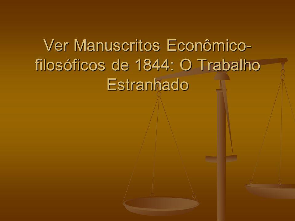 Ver Manuscritos Econômico-filosóficos de 1844: O Trabalho Estranhado