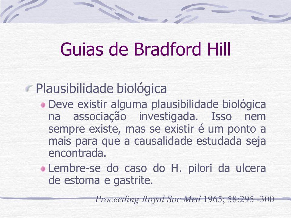 Guias de Bradford Hill Plausibilidade biológica