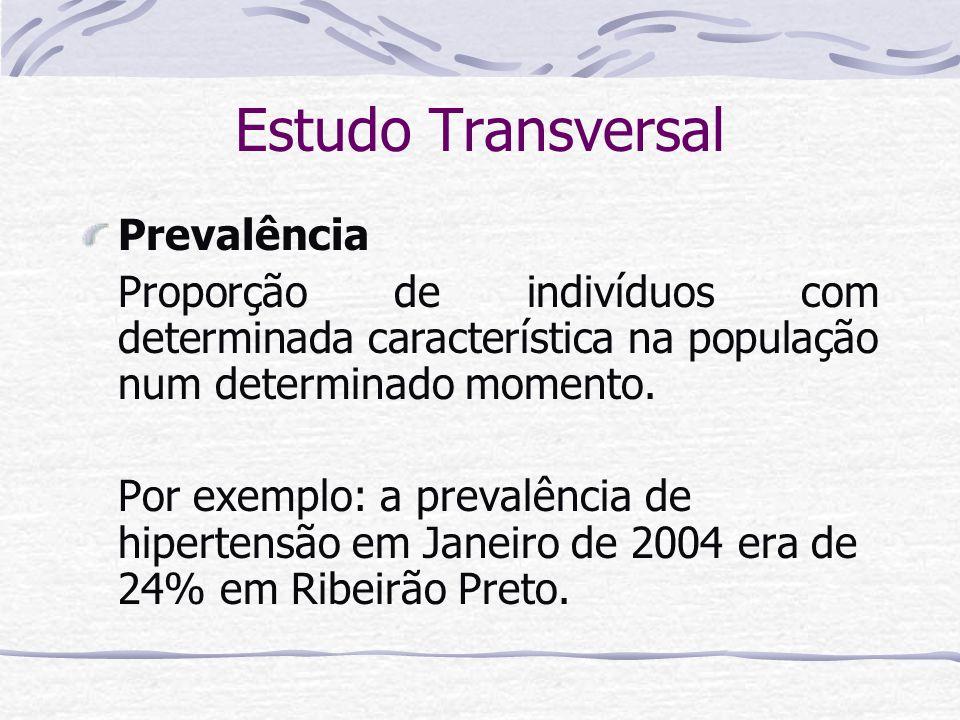 Estudo Transversal Prevalência