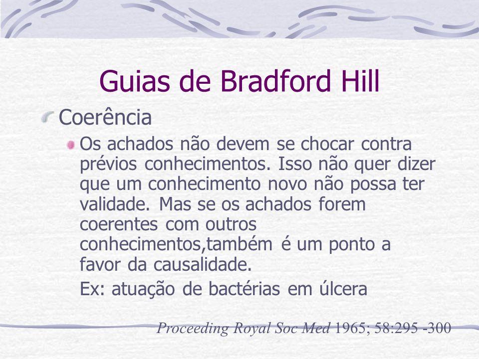 Guias de Bradford Hill Coerência