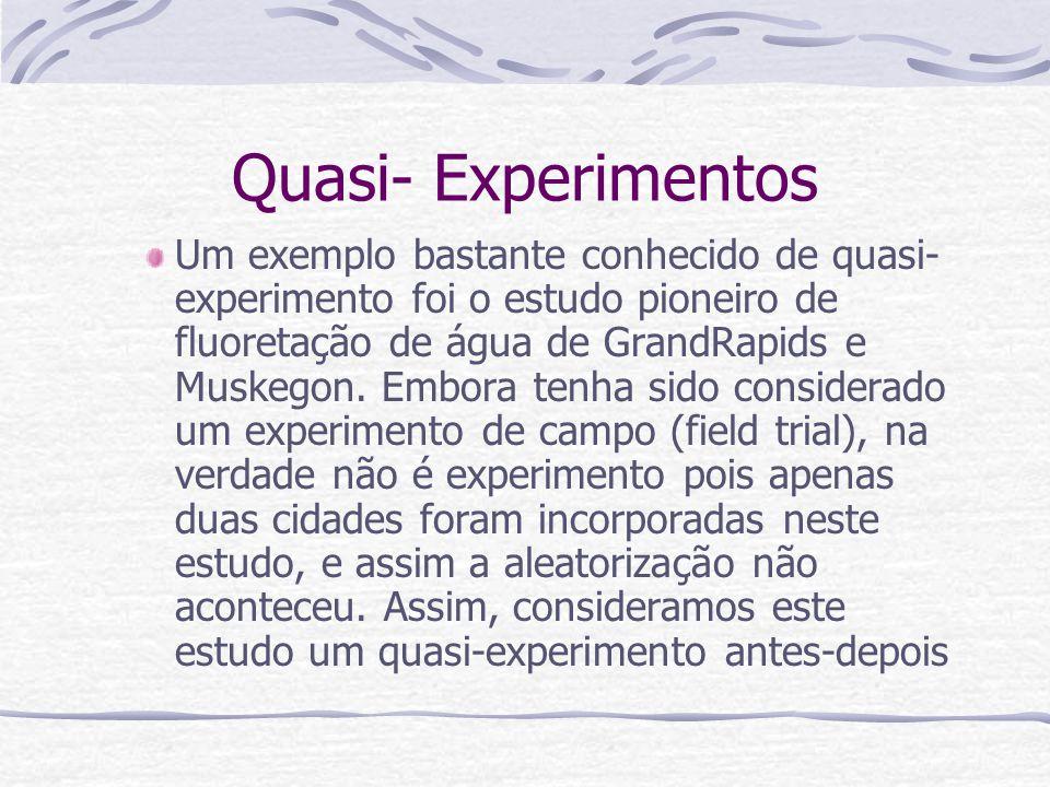 Quasi- Experimentos