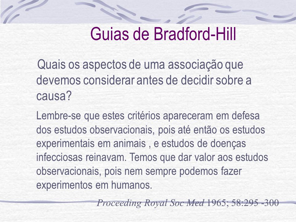 Guias de Bradford-Hill