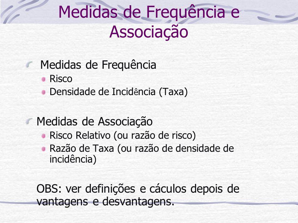 Medidas de Frequência e Associação
