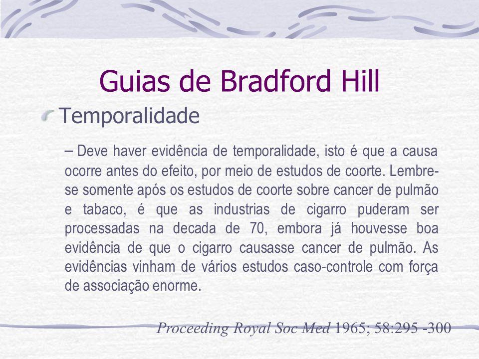 Guias de Bradford Hill Temporalidade