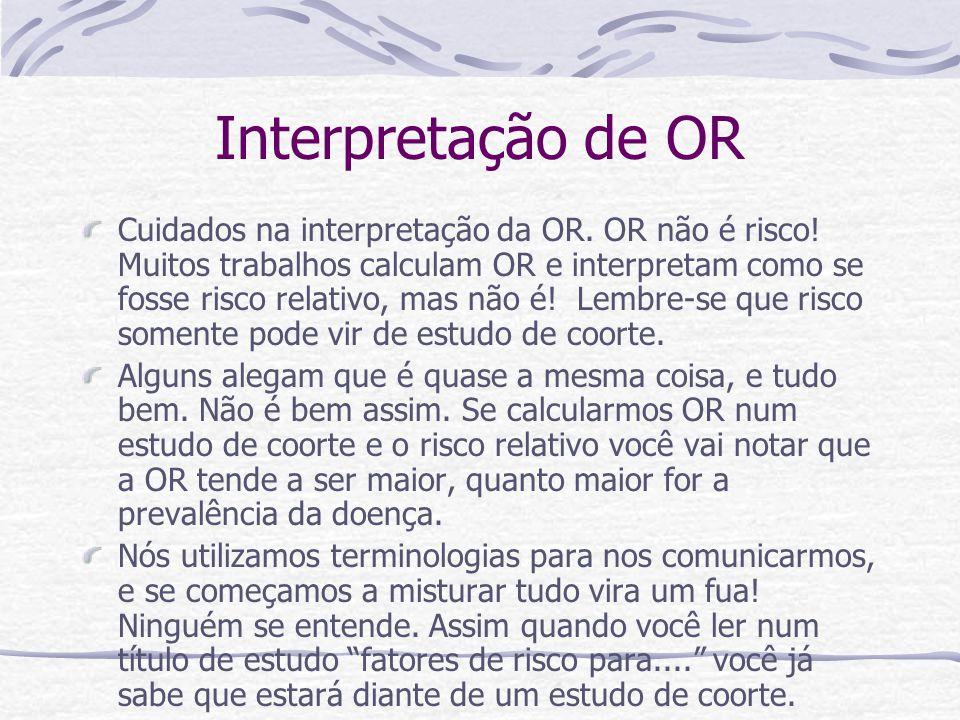 Interpretação de OR
