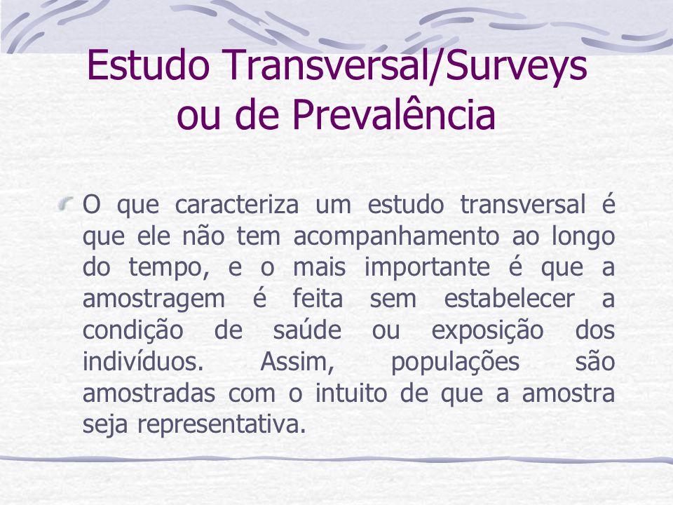 Estudo Transversal/Surveys ou de Prevalência