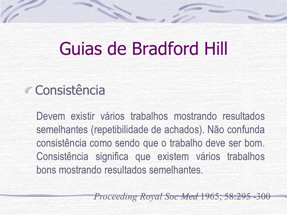 Guias de Bradford Hill Consistência