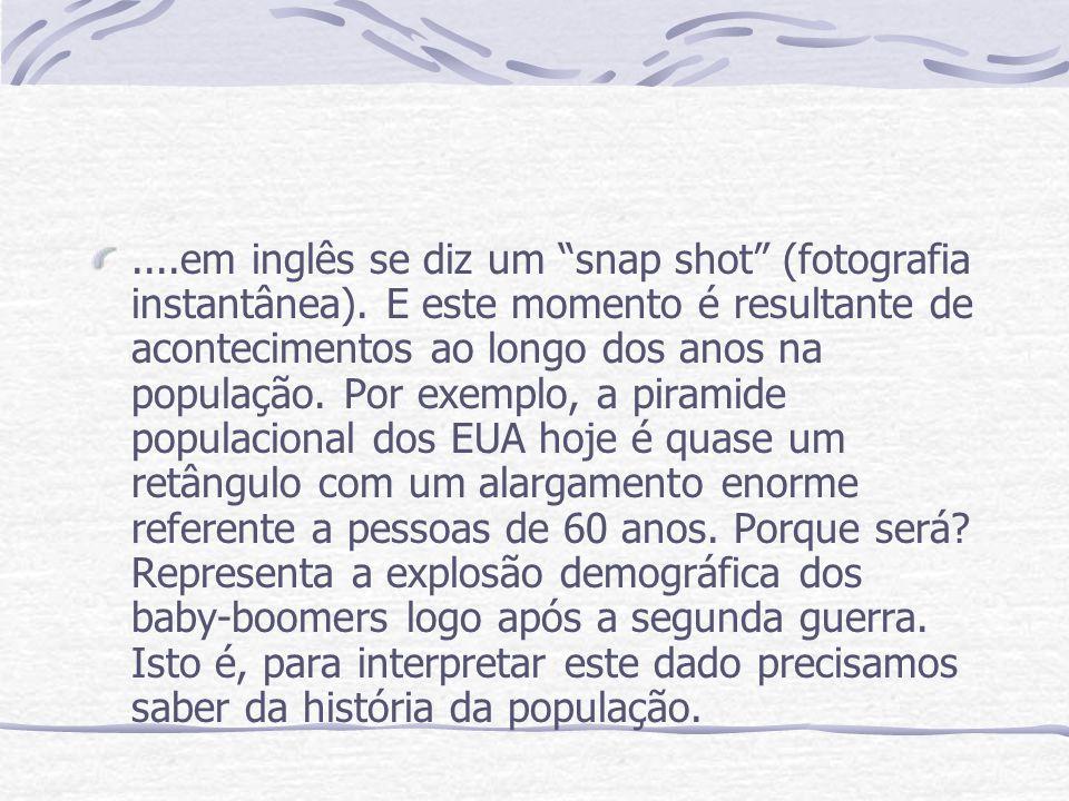 em inglês se diz um snap shot (fotografia instantânea)