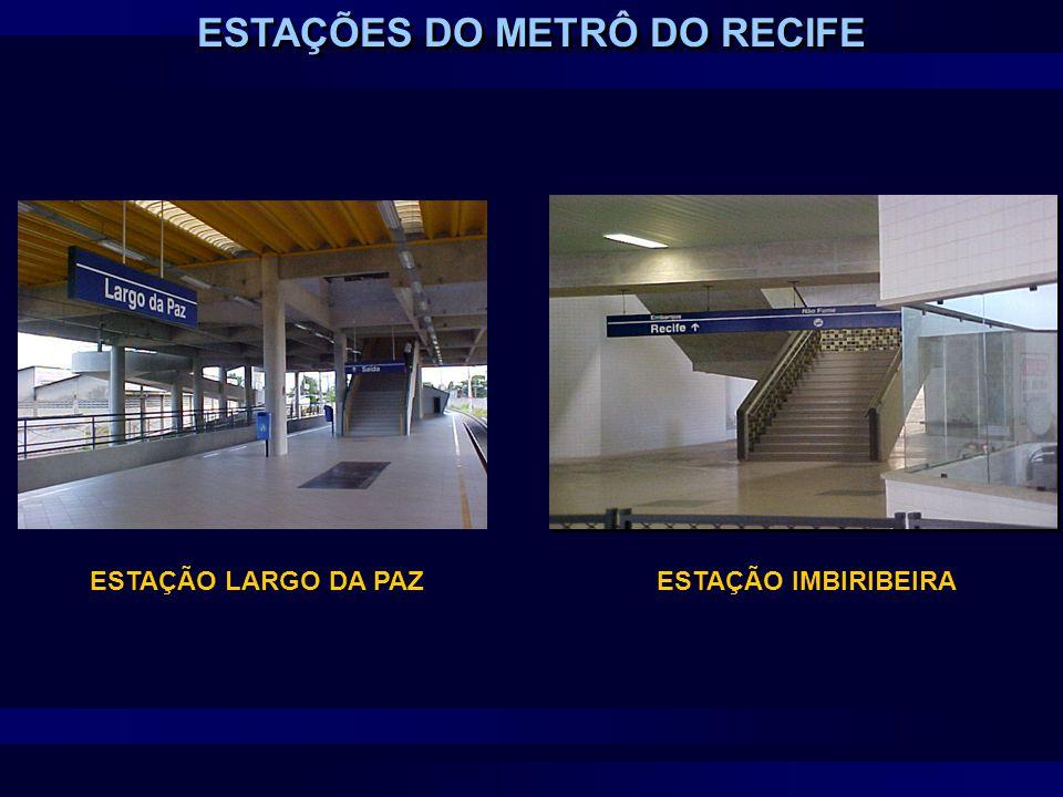 ESTAÇÕES DO METRÔ DO RECIFE