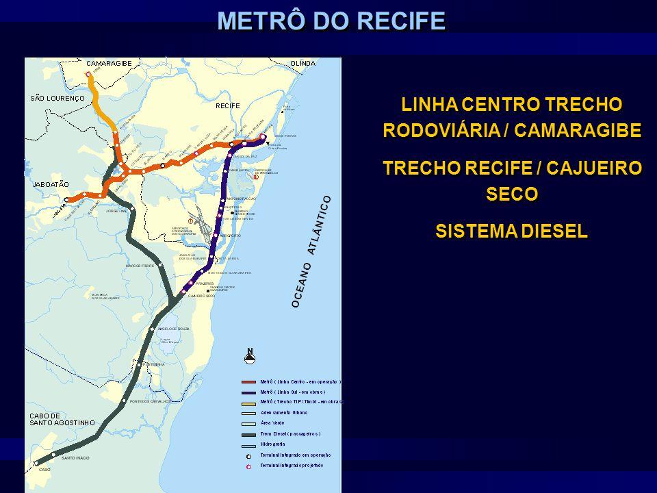 METRÔ DO RECIFE LINHA CENTRO TRECHO RODOVIÁRIA / CAMARAGIBE