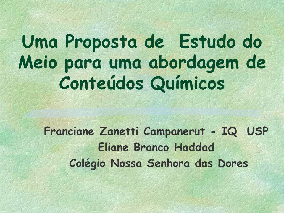 Franciane Zanetti Campanerut - IQ USP Colégio Nossa Senhora das Dores