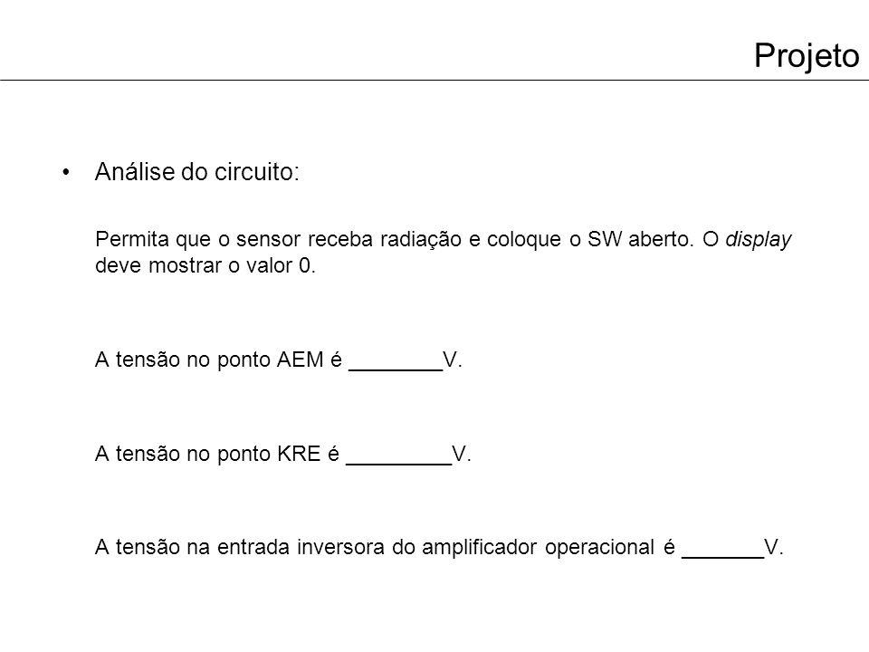 Projeto Análise do circuito: