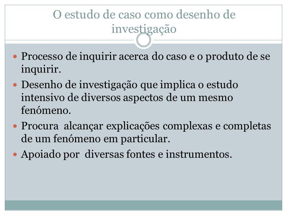 O estudo de caso como desenho de investigação