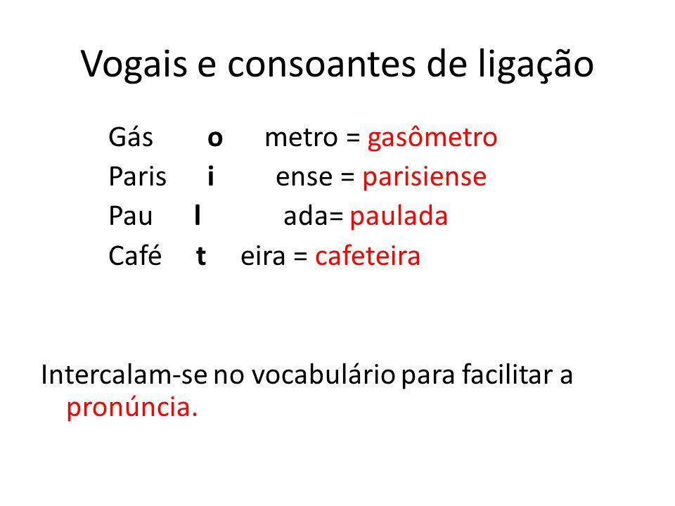 Vogais e consoantes de ligação