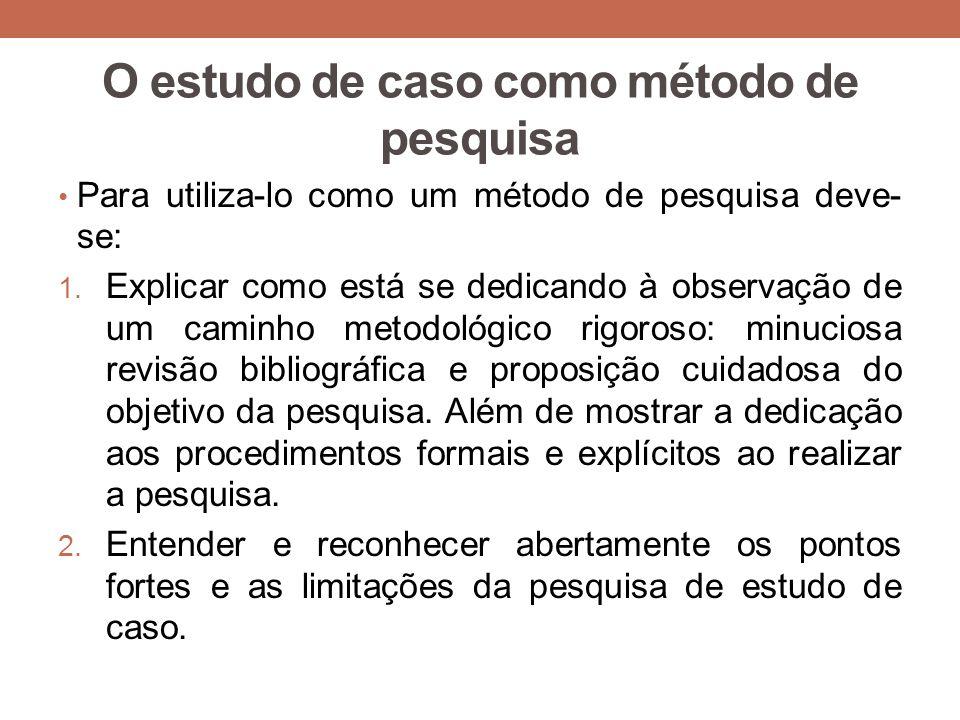 O estudo de caso como método de pesquisa