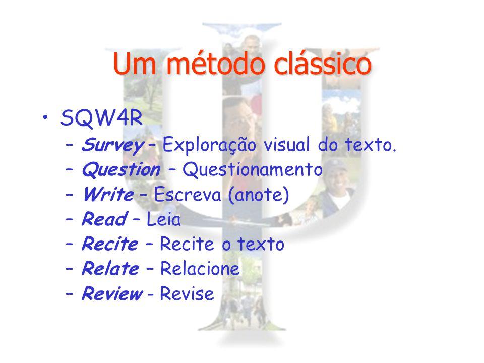 Um método clássico SQW4R Survey – Exploração visual do texto.