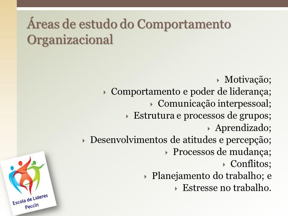 Áreas de estudo do Comportamento Organizacional
