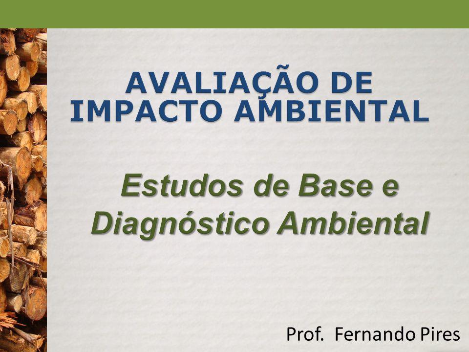 AVALIAÇÃO DE IMPACTO AMBIENTAL Estudos de Base e Diagnóstico Ambiental
