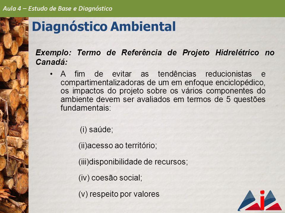 Exemplo: Termo de Referência de Projeto Hidrelétrico no Canadá: