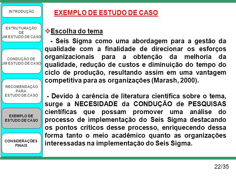 EXEMPLO DE ESTUDO DE CASO