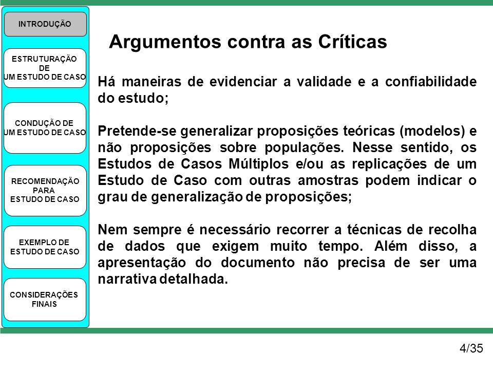 Argumentos contra as Críticas
