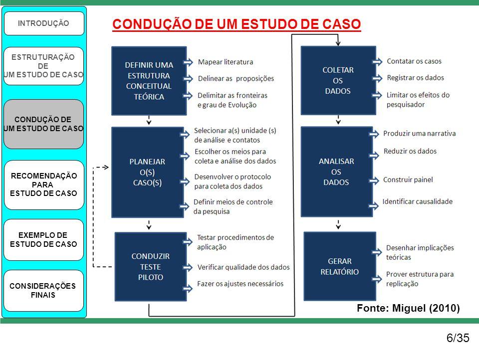 CONDUÇÃO DE UM ESTUDO DE CASO
