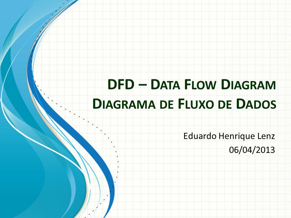 DFD – Data Flow Diagram Diagrama de Fluxo de Dados