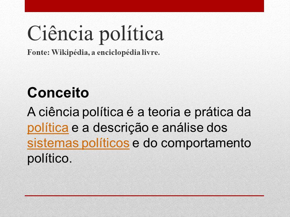 Ciência política Conceito