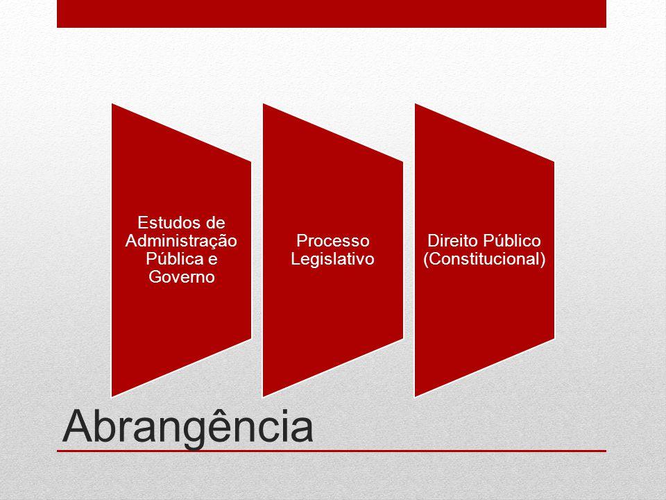 Abrangência Estudos de Administração Pública e Governo
