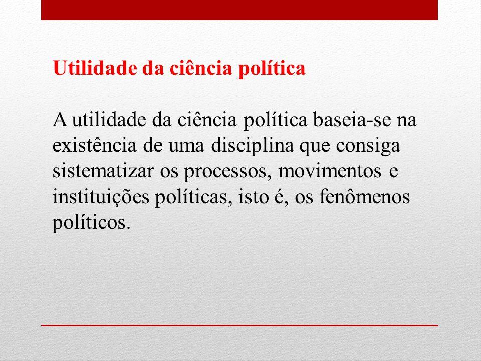 Utilidade da ciência política