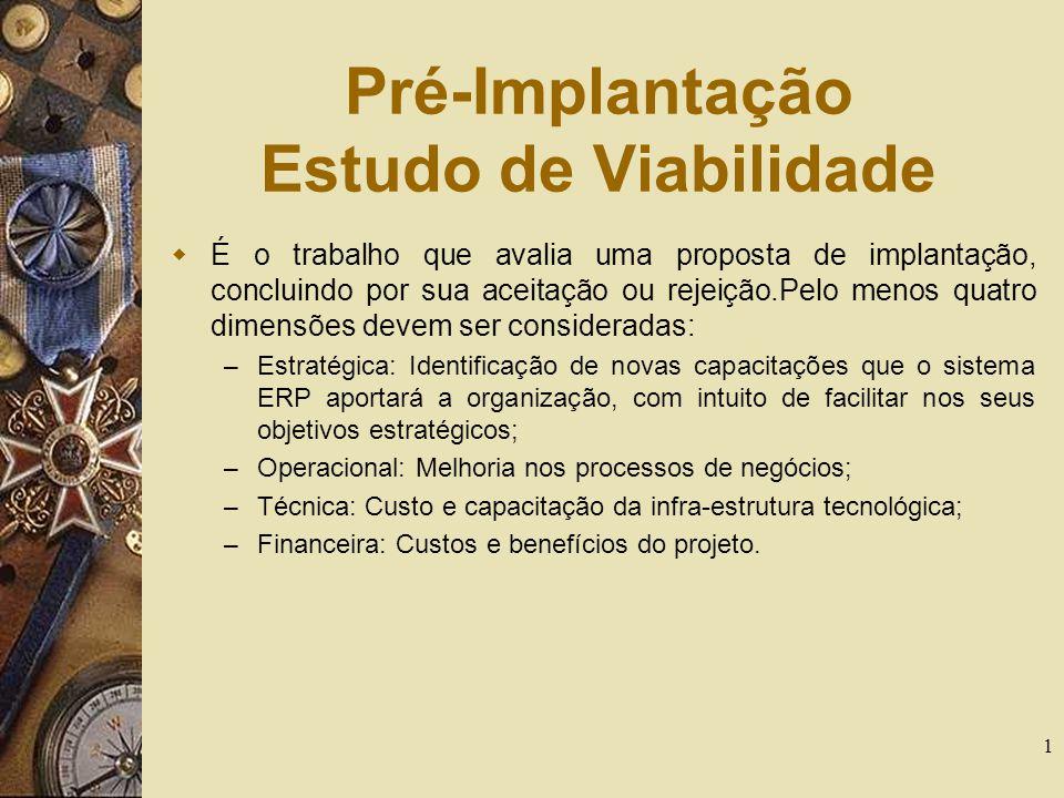 Pré-Implantação Estudo de Viabilidade