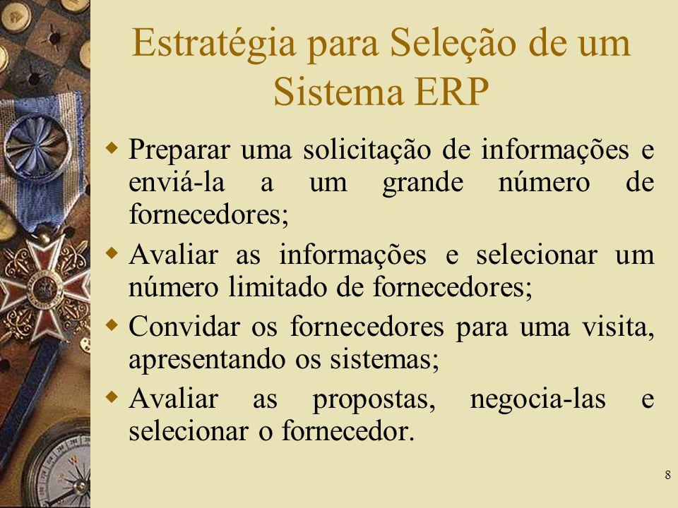 Estratégia para Seleção de um Sistema ERP