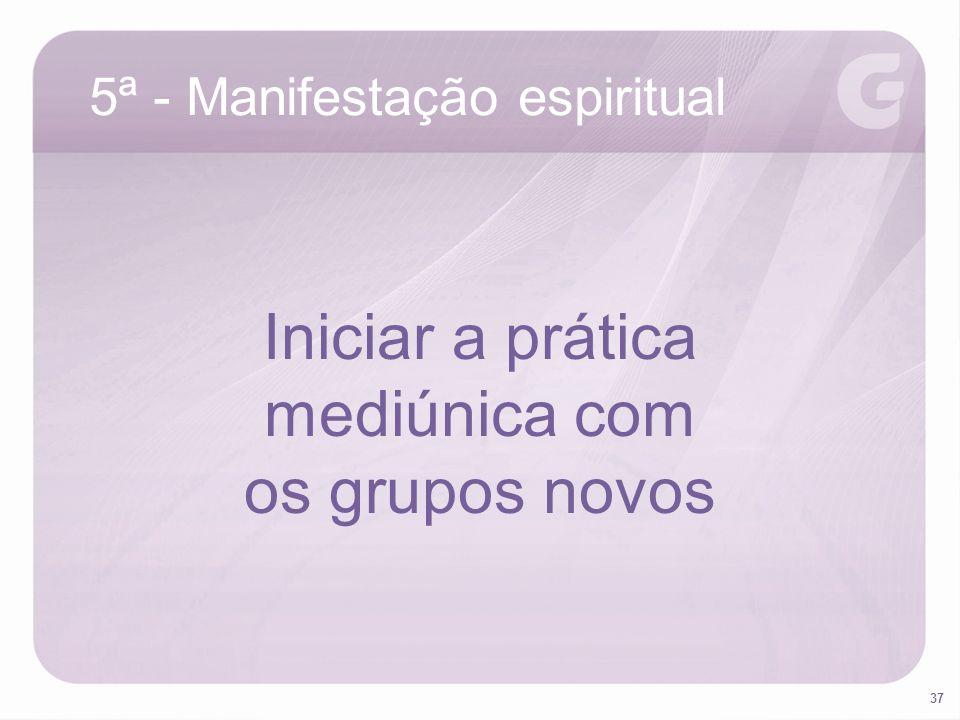 Iniciar a prática mediúnica com os grupos novos