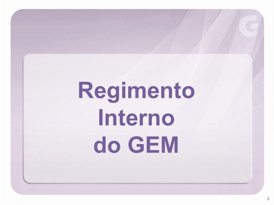 Regimento Interno do GEM