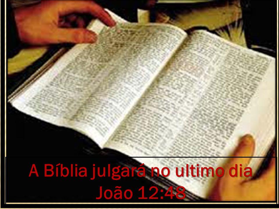 A Bíblia julgará no ultimo dia