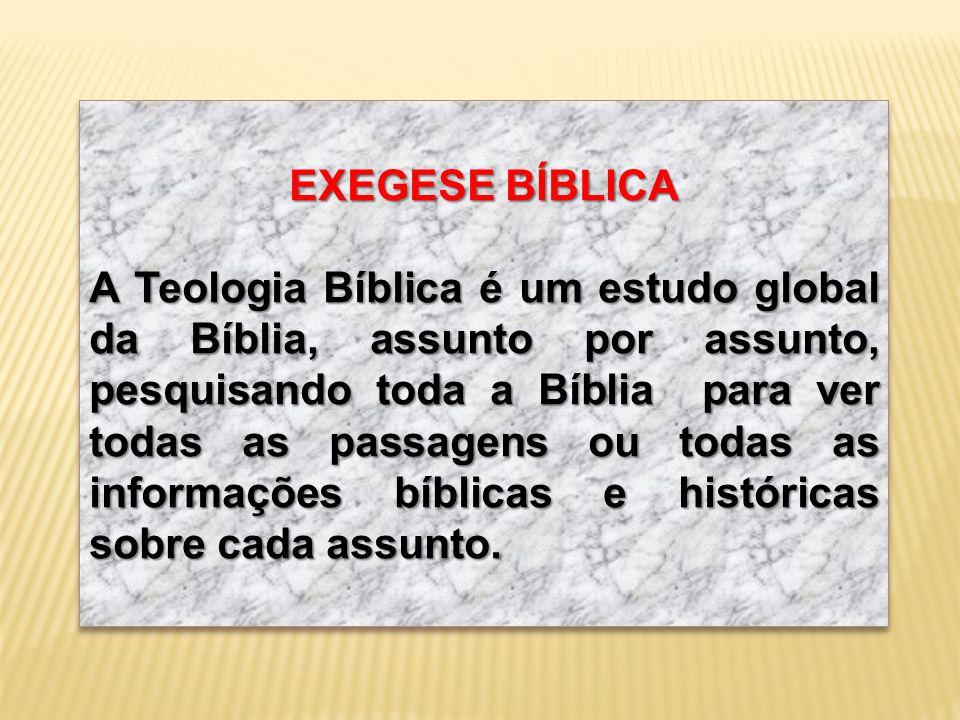 EXEGESE BÍBLICA