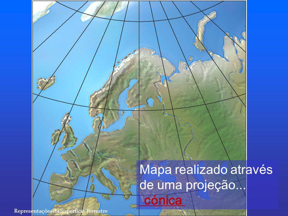 Mapa realizado através de uma projeção... _______