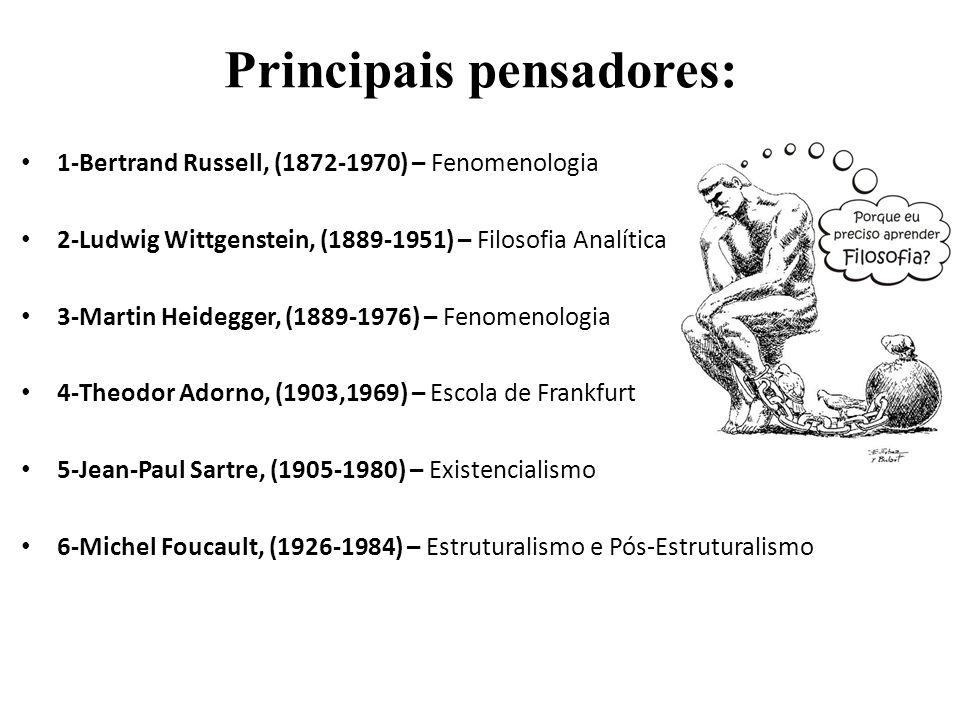Principais pensadores: