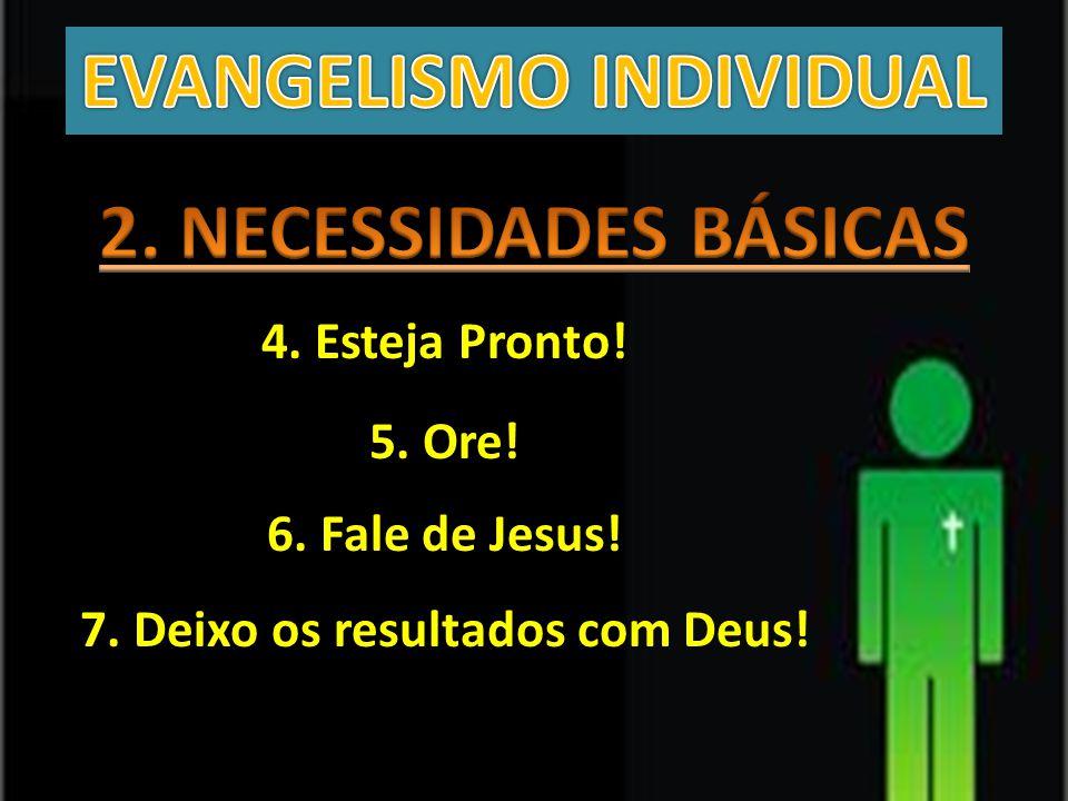 EVANGELISMO INDIVIDUAL 7. Deixo os resultados com Deus!